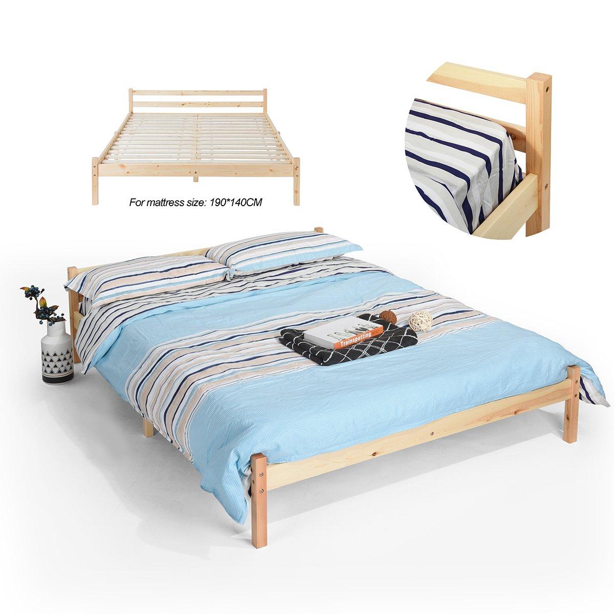 pheobehouse Natur Holz Bett Plattform (Twin, Full), Holz, Weiß ...