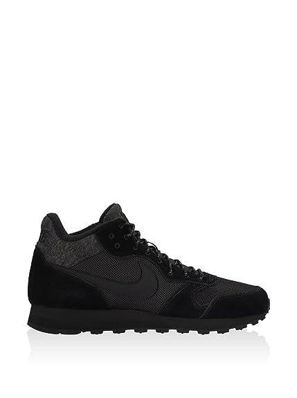 Nike Men's Md Runner 2 Mid Running Shoes, Beige, Black/Blanco (Black