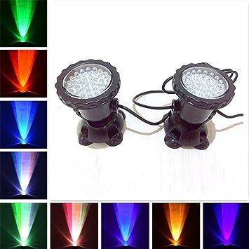 LED Unterwasser-Licht Deko-Leuchten Lampen RGB Aquarium Teich Pool IP65 4er SET