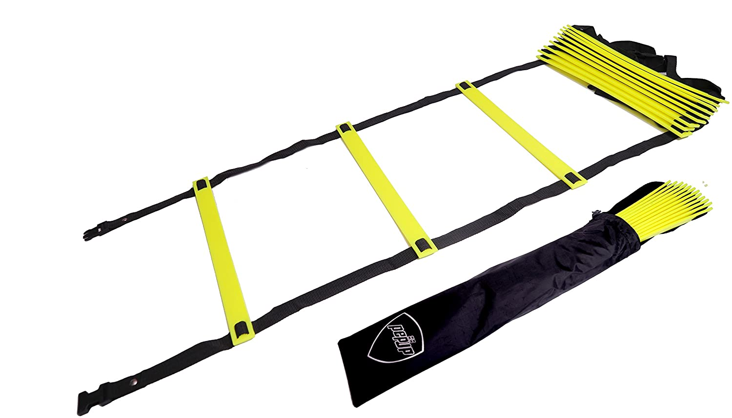 Pepup Sports Super Flat Adjustable Speed Agility Ladder with Free Carry Bag