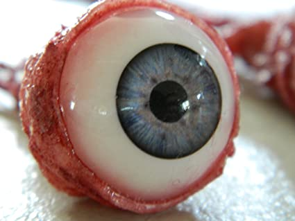 Halloween Horror Prop Life Size Realistic Specimen Jar of Ripped Out Eyeballs
