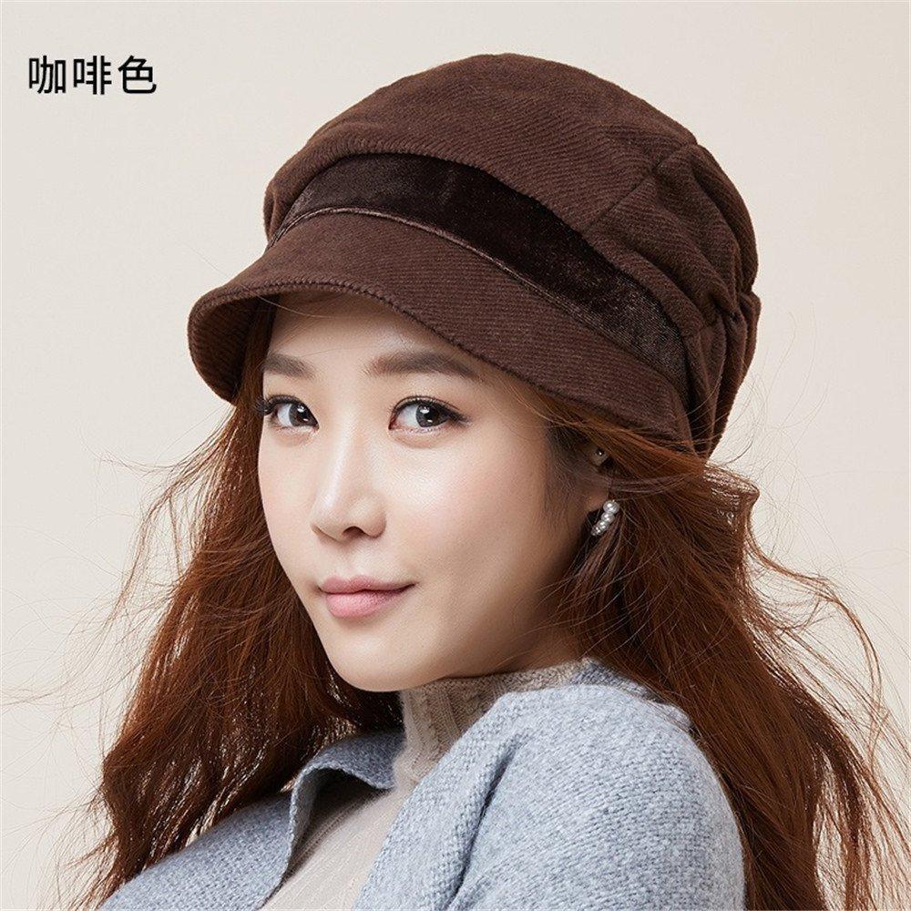 Los hijos de las mujeres de moda de otoño e invierno Hat Beret tapar todas-match otoño otoño tide ma...