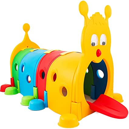 Happybuy Climb and Crawl Caterpillar Play 72 x40 Inch Climb-N-Crawl  Caterpillar Tunnel Indoor Outdoor in preschools daycares Child Care Centers  or at