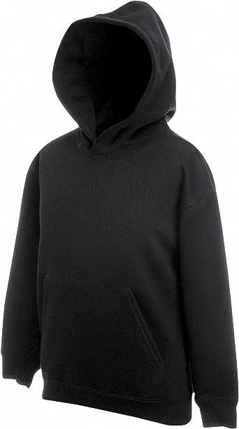 TALLA 12 años. Fruit Of The Loom - Sudadera básica con capucha diseño Sweatshirt Unisex niños niñas