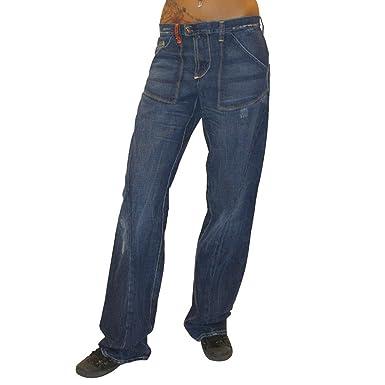 MET Diseño Mujer Baggy Low Pantalones Vaqueros Pantalones ...