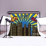 LB 7x5ft Super City Vinyl Photography Backdrop Customized Photo Background Studio Prop HR03