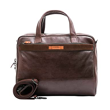 Velez Mens Genuine Colombian Leather Business Travel Briefcase Laptop Crossbody Messenger Bag | Maletin y Bolso
