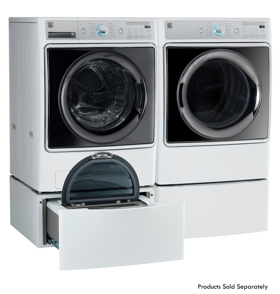 Kenmore Smart 91982 9.0 cu. ft. Gas Dryer with Accela Steam Technology in White - Compatible with Amazon Alexa, includes delivery and hookup (Available in select cities only) by Kenmore (Image #3)