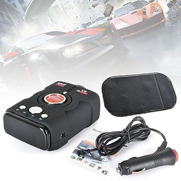 Reelva Detector de coche anti V8 Radar Detector de alarma de coche vehículo Radar de velocidad Detectar Voz en inglés de 360 grados: Amazon.es: Electrónica
