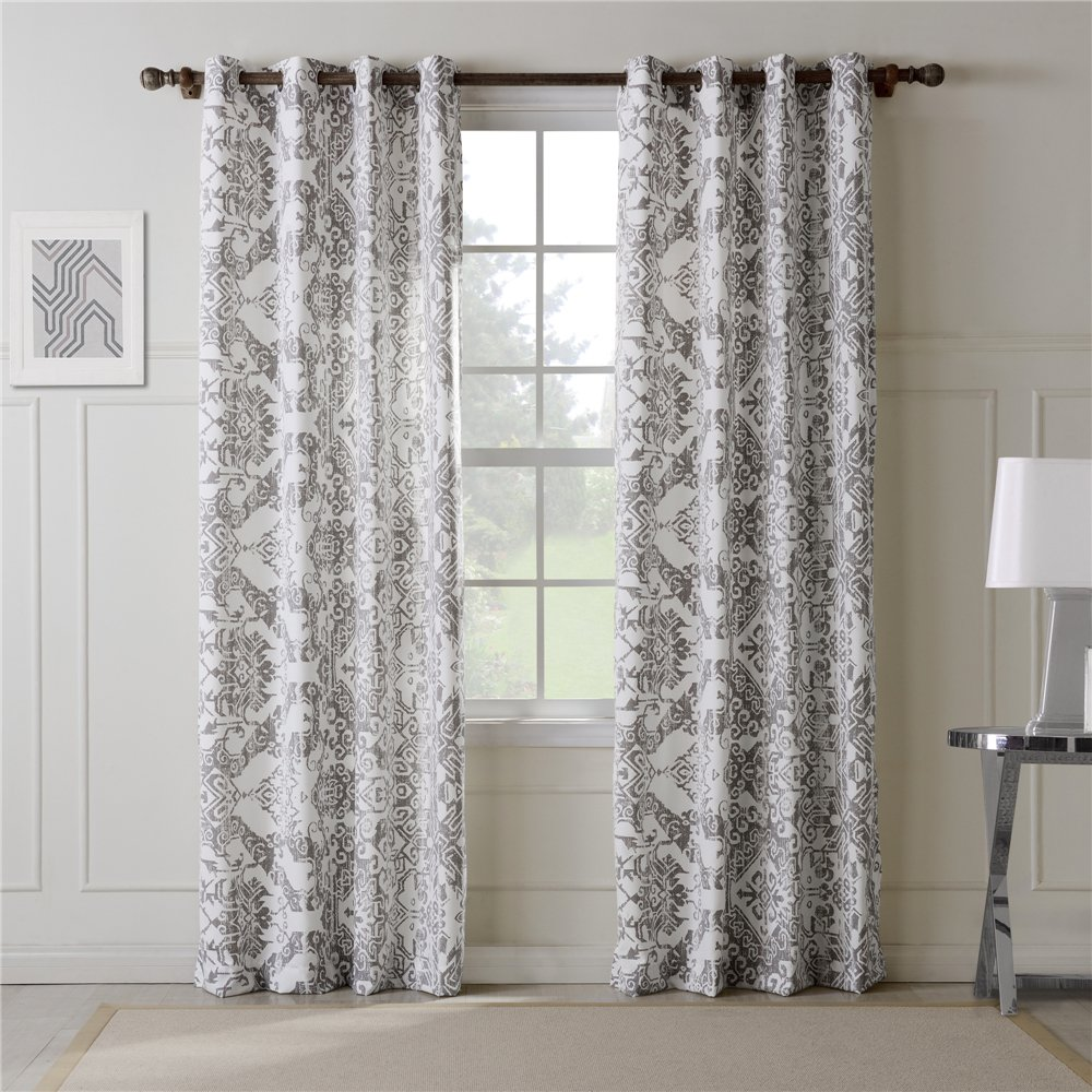 ComforHome Linen Look Blackout Window Curtain, Grommets Drapes for Living Room Ivory 52 x 63(1 Panel) Sky Homtex CO.LTD