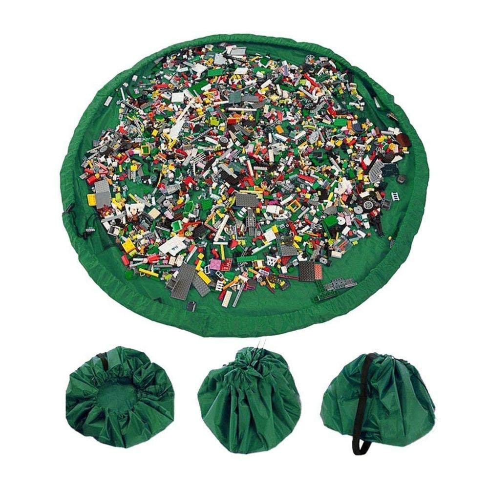 Bolsa con cordón Mat Los niños Organizador de Juguetes Green ...