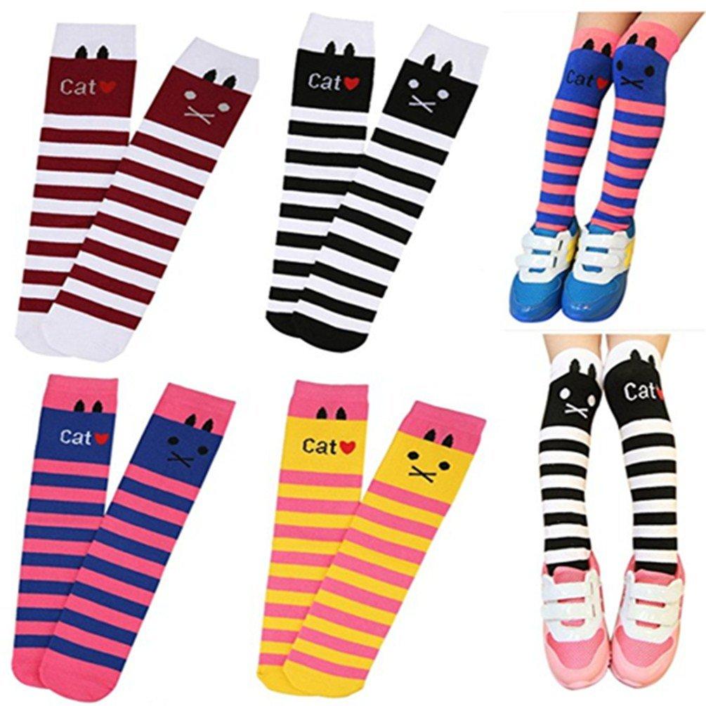 TAROMAING Little Girls Stockings Knee High Long Socks for Childrens and Todders