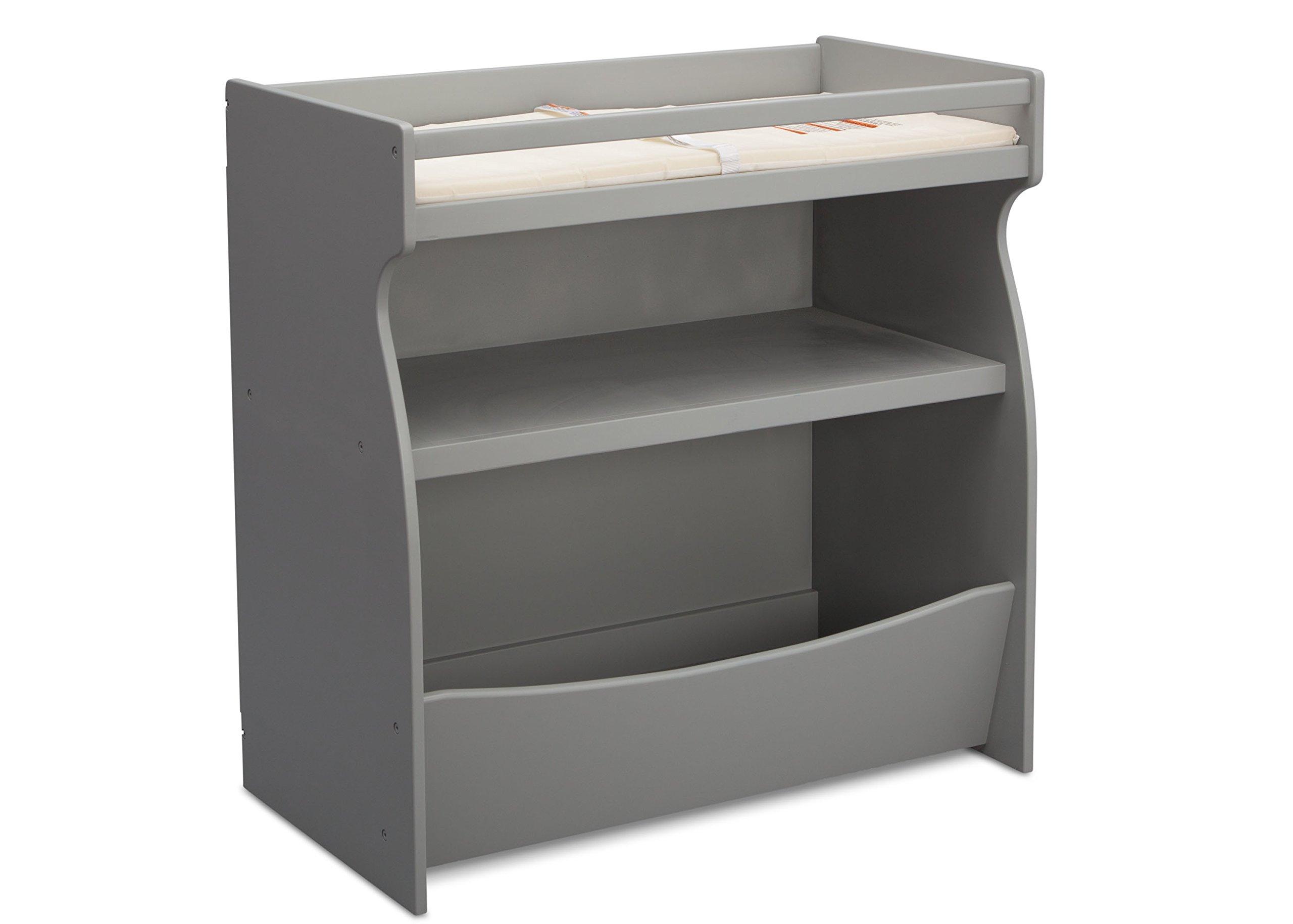 Delta Children 2-in-1 Changing Table and Storage Unit, Grey by Delta Children