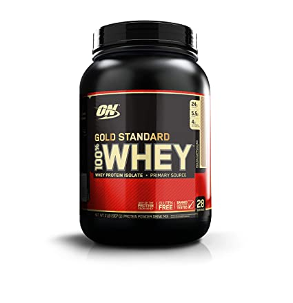 Optimum Nutrition Gold Standard 100 Percents Whey Protein Powder, Mocha Cappuccino, 2 Pound by Optimum Nutrition