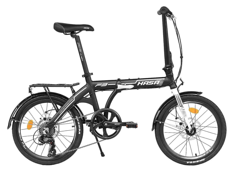 HASA 折りたたみ折り畳み式自転車シマノ7スピード  黒 B0793LF929