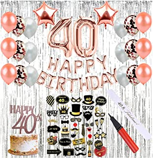 Amazon com: 40th Birthday Decorations with Photo Props Party