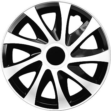 4 Er Set Radkappen Radzierblenden Draco Cs 15 Zoll 15 Schwarz Weiß Black White Auto