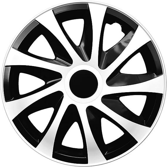 4 Er Set Radkappen Radzierblenden Draco Cs 14 Zoll 14 Schwarz Weiß Black White Auto