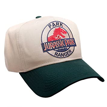 9017f65e12b Image Unavailable. Image not available for. Color  Jurassic Park Movie Logo Park  Ranger Sci-Fi Patch Snapback Green Khaki Caps Hats
