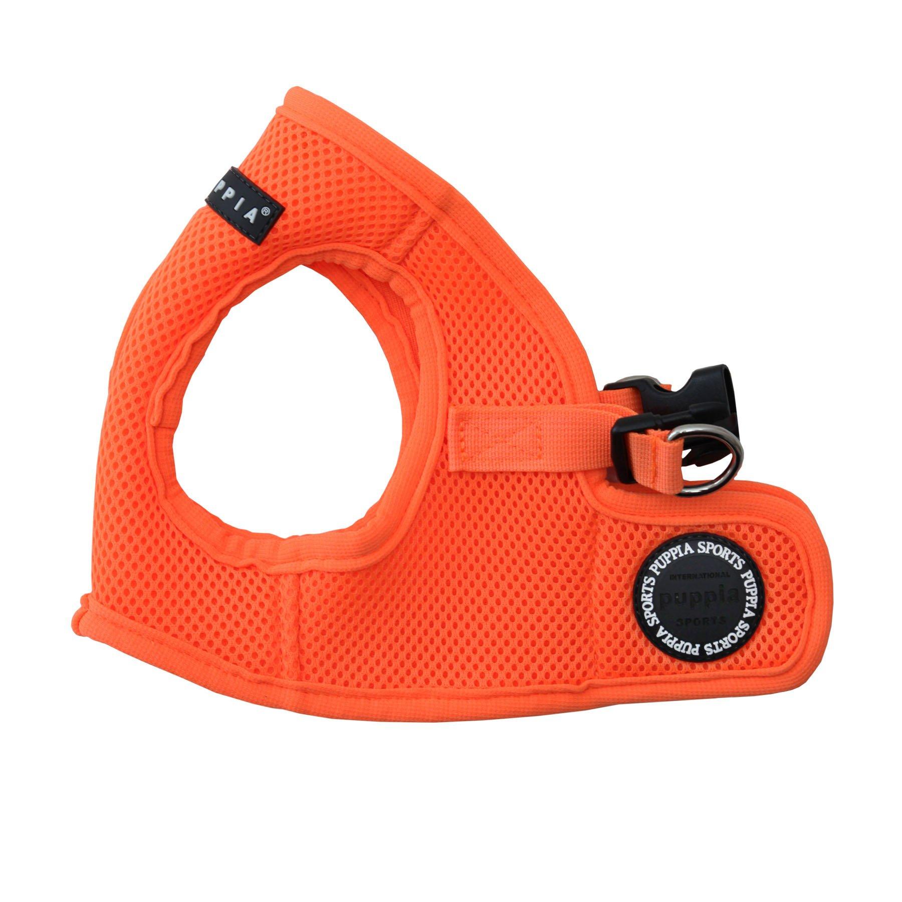 Puppia Authentic Puppia Neon Soft Vest Harness B, Orange, Small