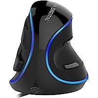 J-Tech Digital [V628] Wired Ergonomic Vertical USB Mouse with Adjustable Sensitivity (600/1000/1600 DPI), Scroll…