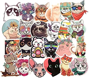 Cat Sticker Pack of 50 Stickers Cute Cat Stickers for Laptops Hydro Flasks Water Bottles Luggage