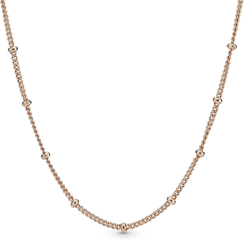 Pandora Jewelry Beaded Chain Pandora Rose Necklace, 27.6