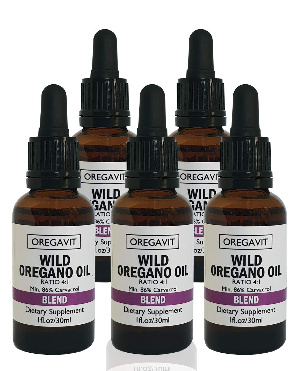 Wild Oil of Oregano Blend Extra Strength 86% Carvacrol * For Digestive, Immune Support & Respiratory Health (5)