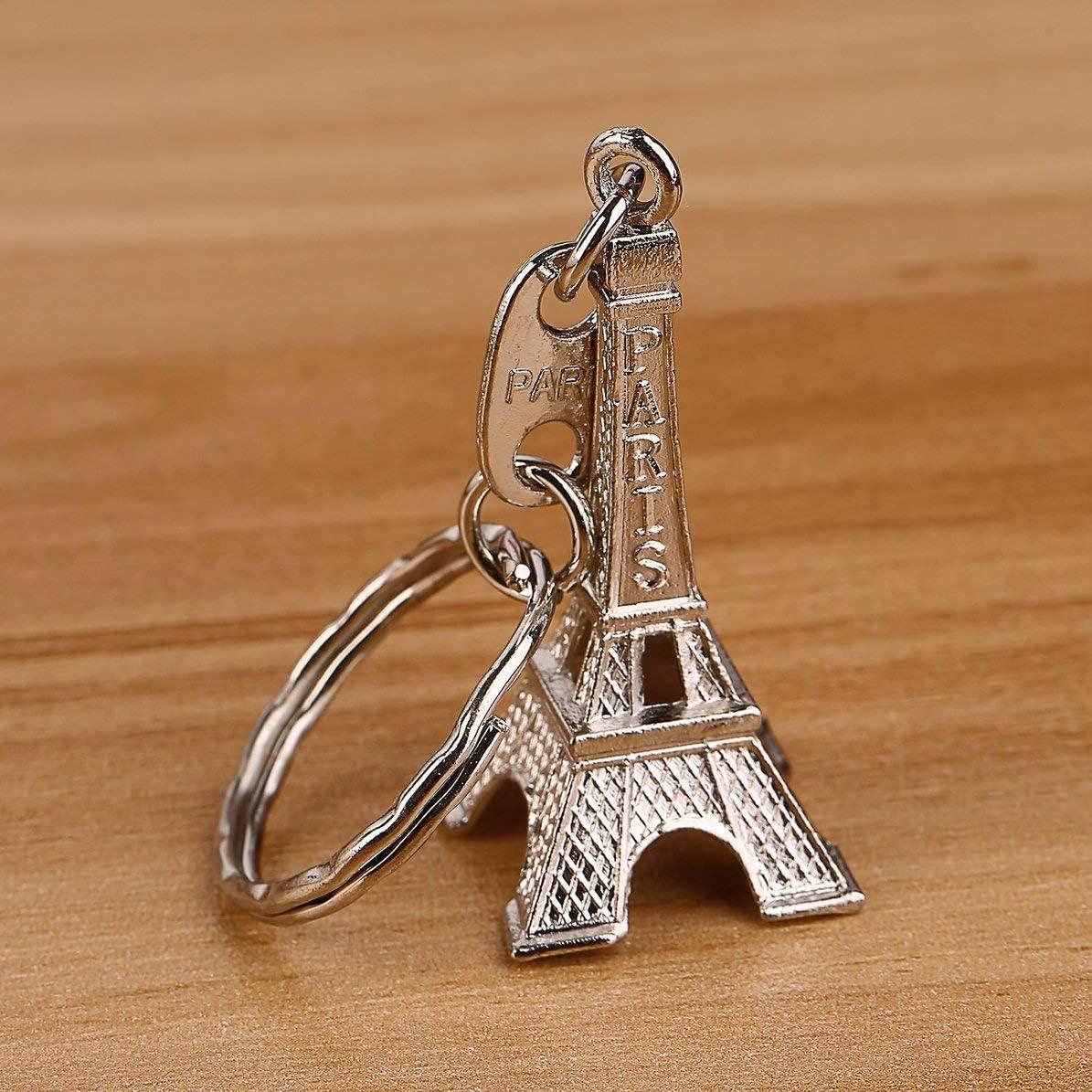 Unisexe R/étro Mini Paris Tour Eiffel Mod/èle Porte-cl/és Porte-cl/é En Cuivre Split avec Couleur De Porte-Cl/é Al/éatoire Al/éatoire Livr/é