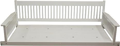 Amazon Com Hinkle Chair Company Carrington Slat Back Swinging Day Bed White Home Kitchen