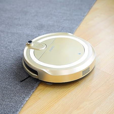 jisiwei i3 Wi-Fi WiFi staubsaug Robot con carga Sation, cámara, mediante Aplicación controlan para suelo duros, Golden: Amazon.es: Hogar