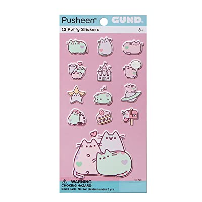 Gund Pusheen The Cat Pastel 13 Sticker Set Plush: Toys & Games