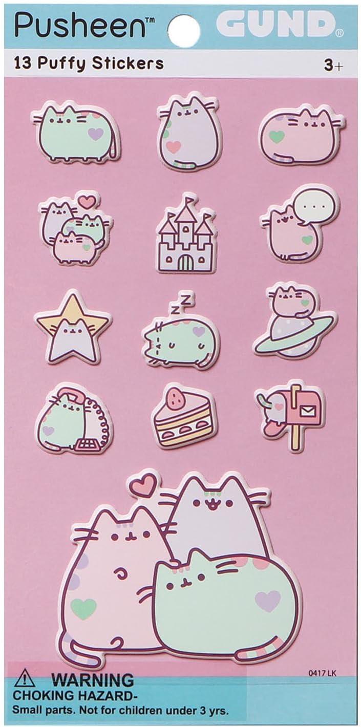 Gund Pusheen The Cat Pastel 13 Sticker Set Plush