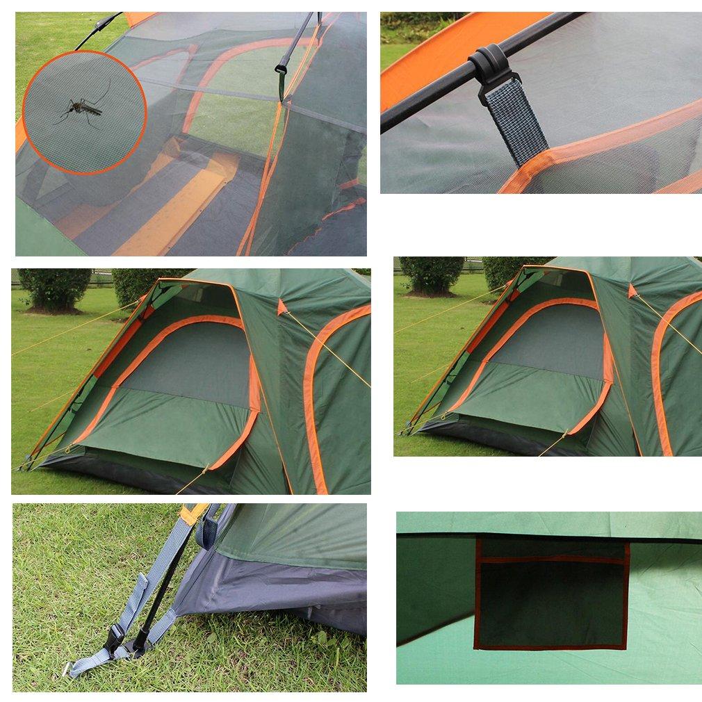 NINI Tente Ext/érieure Double Couche Tente Automatique 3-5 Personne /À Deux Chambres /À Coucher Tente Multifonctionnelle Activit/é De Plein Air Outil Essentiel