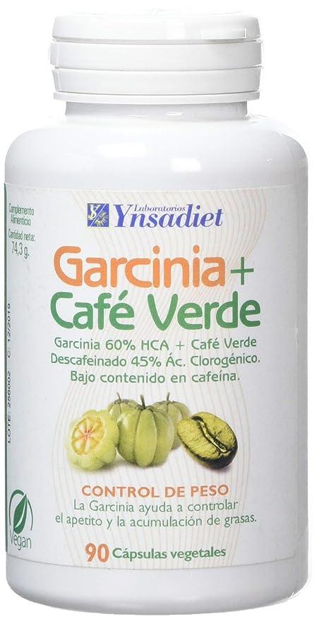Ynsadiet Garcinia Cambogia Con Extracto de Café Verde Sin Cafeina, Complemento Para la Dieta,