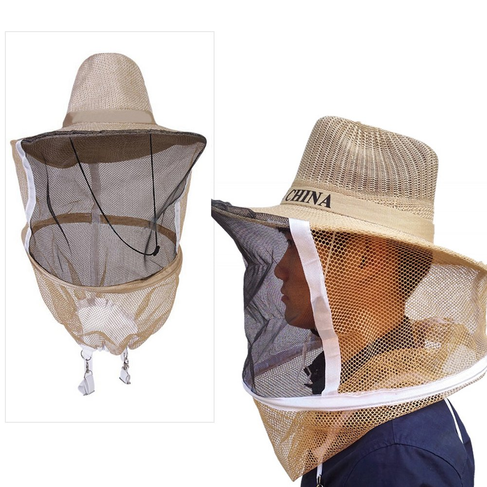 Kocome Beekeeper Beekeeping Veil with Round Cowboy Hat - Anti Mosquito Bee Insect - Head Face Protector by Kocome (Image #2)