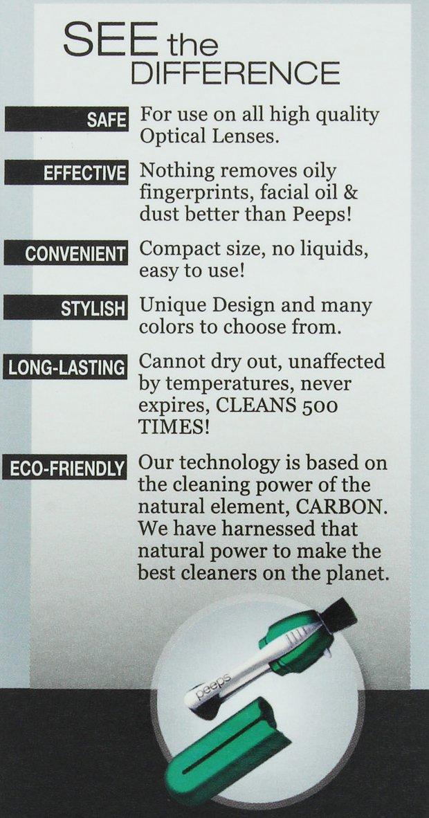 Amazon.com: Peeps Eyeglass Cleaner | No Cloths, No Wipes, No Sprays, No Alcohol, No Mess. All-In-One Lens Cleaner for Eyeglasses and Sunglasses: Health ...