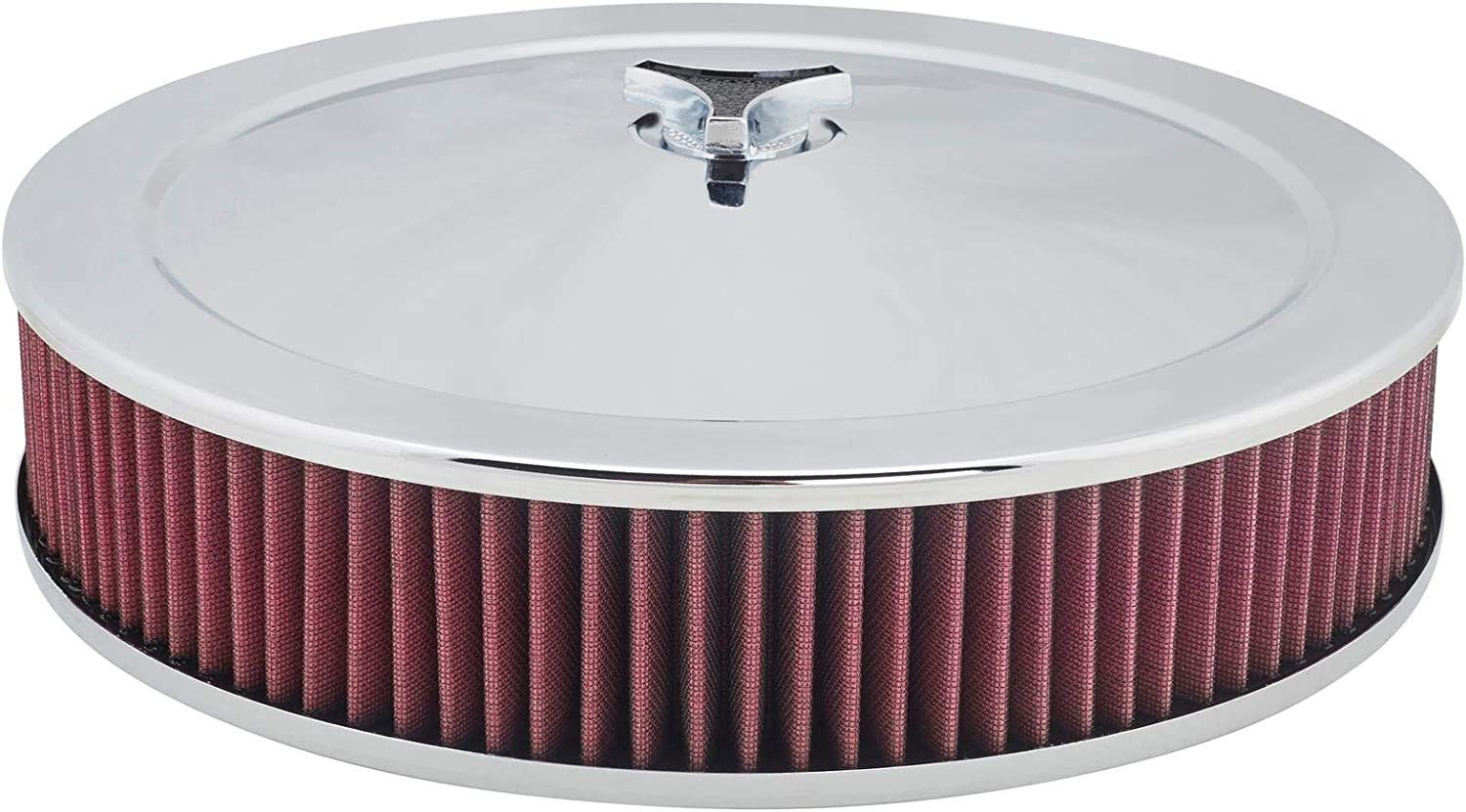 14 x 3 Inch Chrome Air Cleaner with Washable Filter
