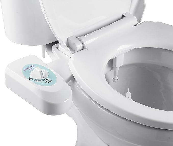 BisBro Deluxe Chrome bid/é Ahorre Papel Higi/énico Limpieza con agua inodoro de ducha para una mejor higiene /íntima F/ácil bajo el WC instalar funciona sin electricidad