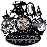 Studio Ghibli Anime Gift Vinyl Record Wall Clock Home Decor Art
