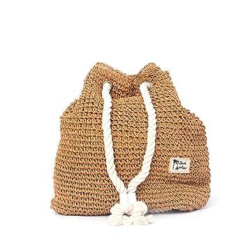 Mochila Bolsa de playa Bolsa de paja Bolso de Viaje Viaje a la playa comprando la tendencia chica Mori: Amazon.es: Bricolaje y herramientas