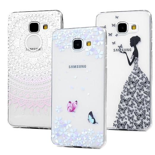 """5 opinioni per 3x Cover per Samsung Galaxy A3 (2016) A310 4.7"""", Silicone Trasparente Ultra"""