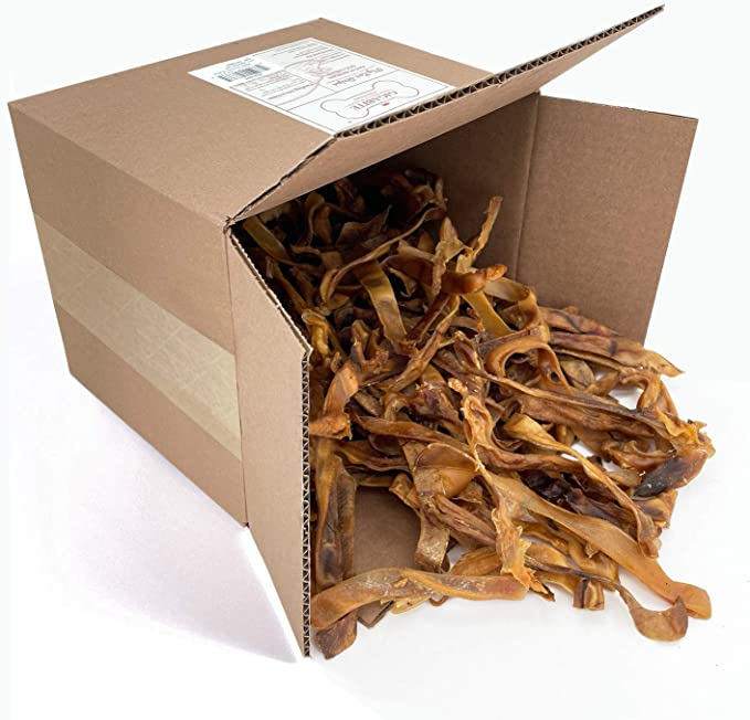 Pig Ear Strips for Dogs Made of 100/% Pure Pork Inspected and Packaged in USA Best Alternative to Rawhide Chews Thick Cut Treat 2 Pounds All Natural Pigs Ear Slivers Dog Chew Treats