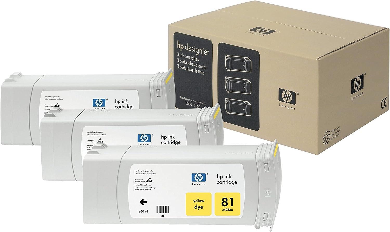 HP C5069A - Cartucho de tinta para HP DesignJet 5000, 1000 páginas/680 ml (pack de 3) Amarillo: Hp: Amazon.es: Oficina y papelería