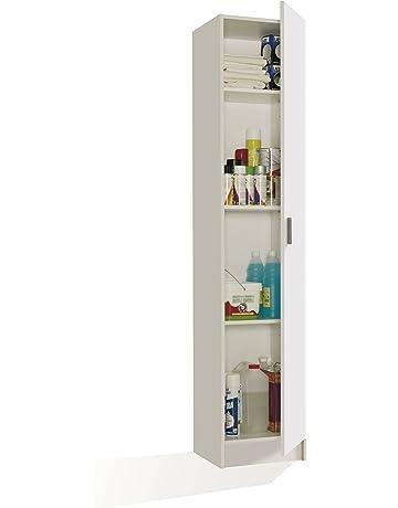 FORES - 007141O - Mueble armario multiusos, 1 puerta, color Blanco, medidas: