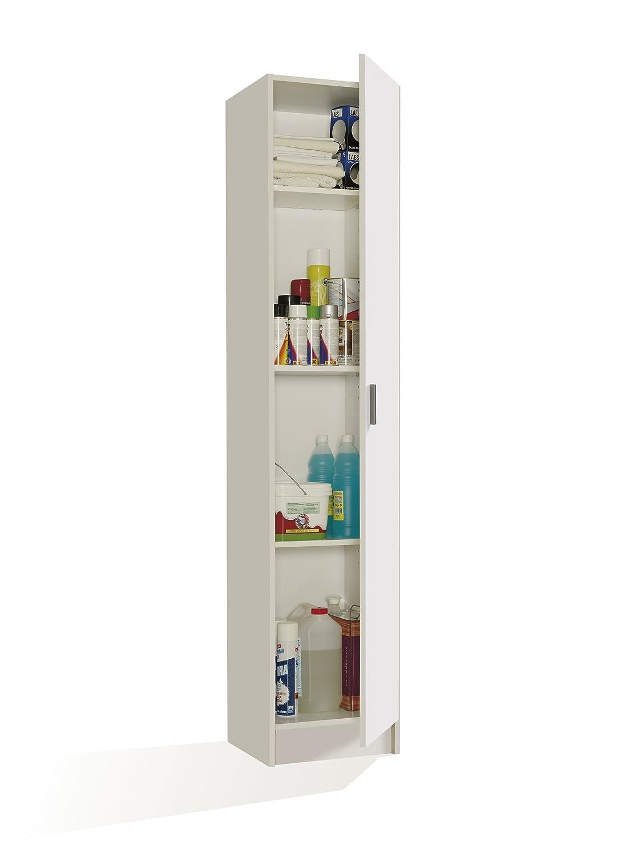 13Casa – Kawai 1 armoire multifonction 1 porte. Dim. 37 x 37 x 180 cm. Mélamine. Blanc.