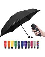 Travel Compact Umbrella Windproof Mini Sun & Rain Umbrella Ultra Light Parasol - Fits Men & Women, Gift Choice