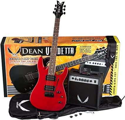 Dean Paquete de iniciación para guitarra eléctrica con Vendetta ...