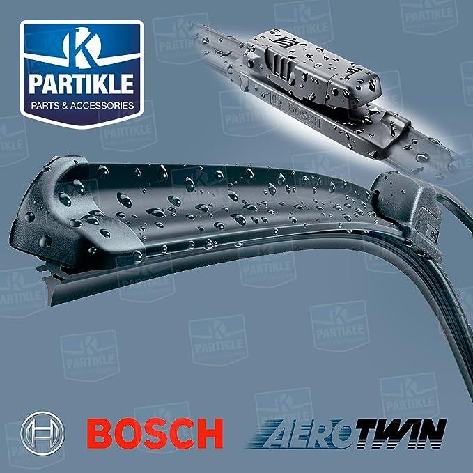 207 Bosch aero-twin Flat Front Limpiaparabrisas Cuchillas (a978s) + Wurth limpiaparabrisas: Amazon.es: Coche y moto