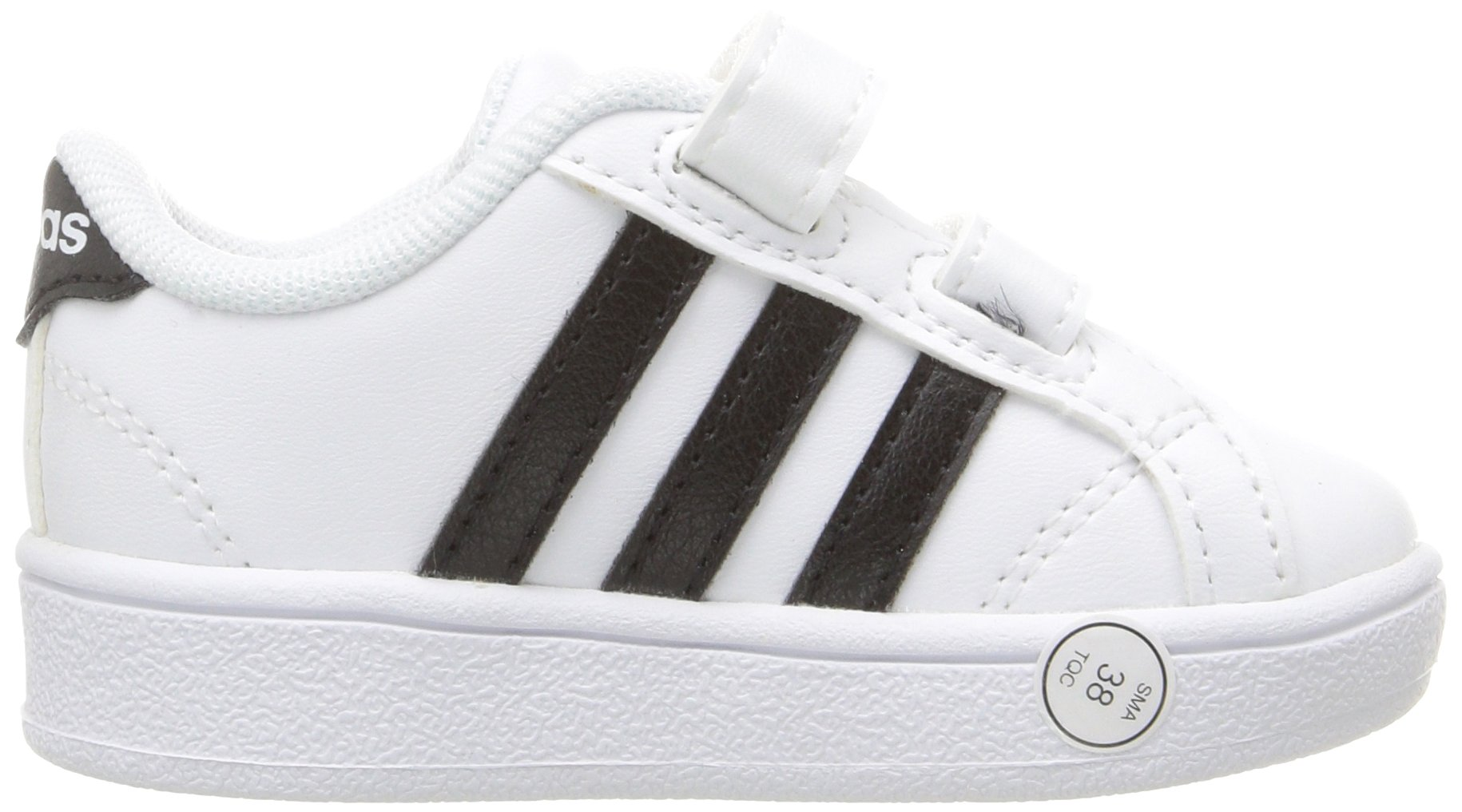 adidas Performance Baby Baseline Sneaker, White/Black/White, 6.5K M US Toddler by adidas (Image #9)
